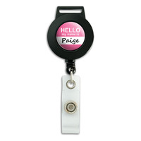 Paige Hello My Name Is Retractable Badge Card ID Holder