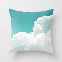 Mint Sky - Throw Pillow Cover
