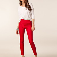 Zippered Back Skinny Pants