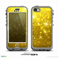 The Orbs of Gold Light Skin for the iPhone 5c nüüd LifeProof Case