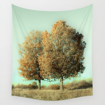 Autumn Trees Wall Tapestry by ARTbyJWP