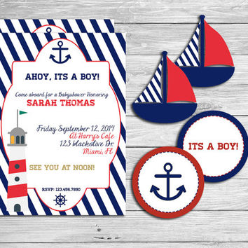 Nautical baby shower Party Kit