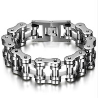 MEN'S HEAVY BIKE CHAIN STAINLESS STEEL LINK BRACELET