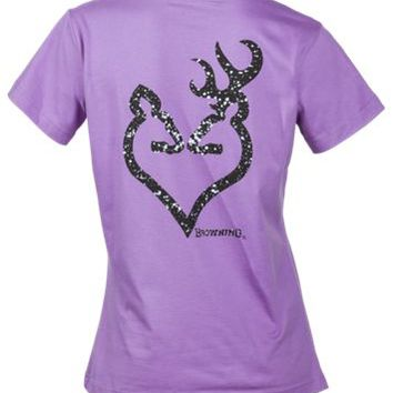 Browning Glitter Buckheart Crewneck T-Shirt for Ladies | Bass Pro Shops