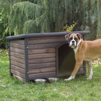 Outdoor Dog House Small Durable Weather Resistant Wood Pet Home Shelter Kennel