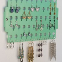 Wall Earring Holder Jewelry Organizer Closet Jewelry Storage Rack - Earring Angel (Green)