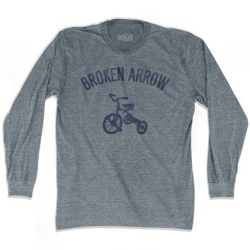 Broken Arrow City Tricycle Adult Tri-Blend Long Sleeve T-shirt