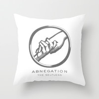 Abnegation Throw Pillow by Amber Rose | Society6