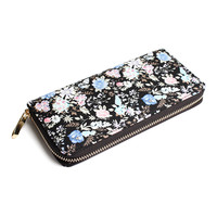 Floral Fashion Zipper Wallet