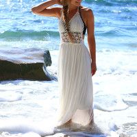 BEACH BEAUTY CROCHET MAXI DRESS
