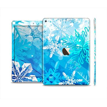 The Winter Abstract Blue Skin Set for the Apple iPad Air 2