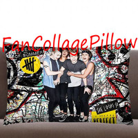 """Custom Pillow Cases popular 5SOS , 5 seconds of summer,available size 18"""" x 18"""", 16"""" x 24"""", 20"""" x 30"""" one side and two side cover"""