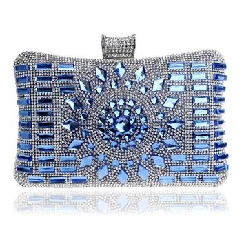 SEKUSA Acrylic Women Evening Bag Diamonds Purse Handbags Chain Shoulder Wedding Party Evening Clutches Messenger Bag Christmas