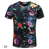 GUCCI 2018 spring and summer tide brand Slim floral print POLO shirt men's lapel T-shirt F-A00FS-GJ #1