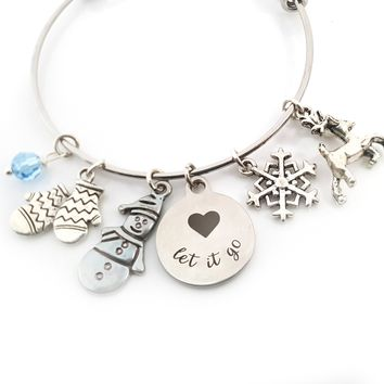 Let It Go Bracelet - Ice Princess Adjustable Bangle