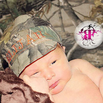 Real tree hat, Realtree hat, Camo hat, hunting hat, baby camo hat, newborn photo prop, little hunter