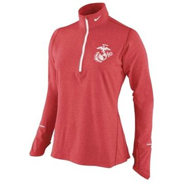 United States Marine Corps Nike Women's Element Training Performance Shirt – Red