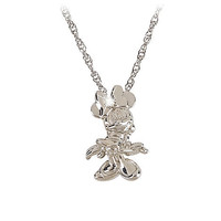 Sterling Silver and Diamond Minnie Mouse Necklace from the Disney Dream Collection | Disney Store