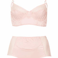 RETRO SATIN BRALET AND HIGH WAIST KNICKERS