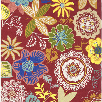 Safavieh Four Seasons Country & Floral Indoor/Outdoorarea Rug Red / Multi