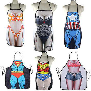 Hot Sale! Funny Sexy Naked Women Men Home Kitchen Cooking BBQ Apron DurableHU