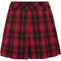 Alice + Olivia Tartan flannel shorts – 55% at THE OUTNET.COM