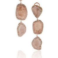 Kimberly McDonald | 18-karat rose gold geode and diamond drop earrings | NET-A-PORTER.COM