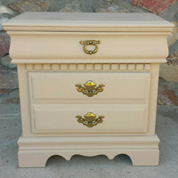 Bassett Oak Nightstand - Shabby Chic Furniture - Refinished furniture - Painted Furniture - Rustic Furniture