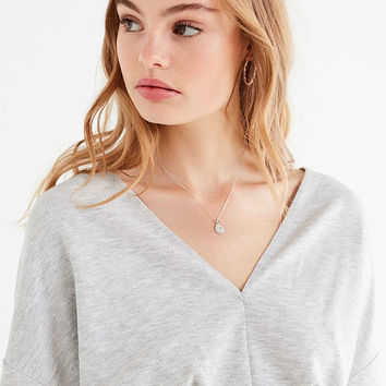 Out From Under Deep V-Neck Cropped Sweatshirt | Urban Outfitters