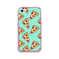 Yummy Cheese Pizza Slice Pink Plastic Bumper iPhone 4 Case Fits iPhone 4 & iP...