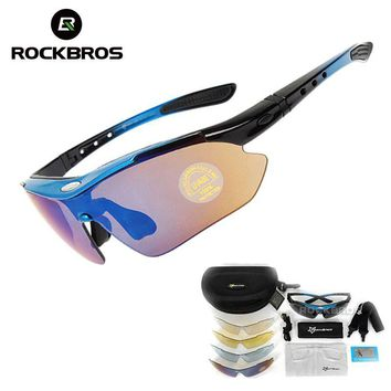 NEW RockBros Polarized Cycling Sun Glasses Outdoor Sports Bicycle Glasses