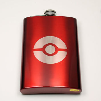 Pokemon 8 oz Pokeball Flask