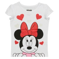 Disney Minnie Mouse Toddler Girls' Valentine's Day T-Shirt - White 3T