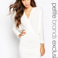 John Zack Petite Sexy Plunge V Body-Conscious Dress