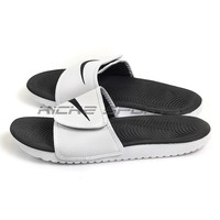 Nike Kawa Adjust White/Black-White 834818-101 Slide Sandals Slippers Lifestyle