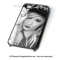 Demi Lovato Hat iPhone 4 4S 5 5S 5C 6 6 Plus , iPod 4 5  , Samsung Galaxy S3 S4 S5 Note 3 Note 4 , and HTC One X M7 M8 Case
