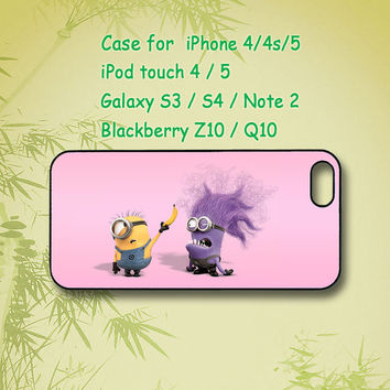 Evil Minion,Despicable Me,iPhone 5 Case, iPhone 4 Case, ipod case, Samsung Galaxy S4, Samsung Galaxy S3, Samsung note 2, blackberry z10, Q10