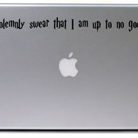 Solemnly Swear Decal / Harry Potter Decal / Macbook Decal / Laptop Sticker / Laptop Decal / Harry Potter Sticker