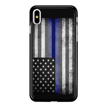 The Thin Blue Line American Police Officer iPhone X Case