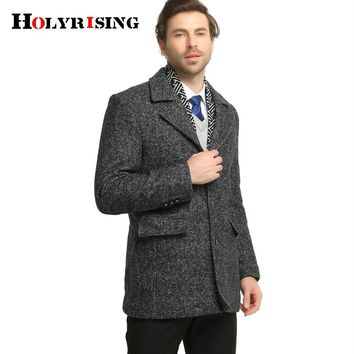 Jacket Men Wool Coat Men Long Wool & Blends Winter Coat Men