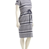 Old Navy Maternity Faux Indigo Striped Dress