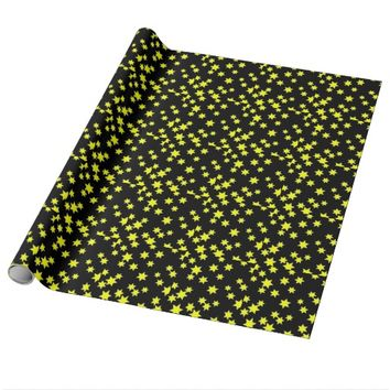 Yellow Stars Wrapping Paper