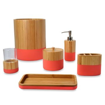 DKNY Color Block Bamboo Bath Ensemble