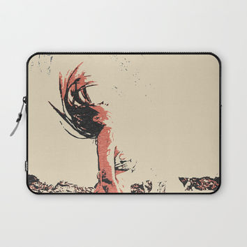 In the move - sexy nude girl, woman in bikini, abstract spiritual sketch, eagle spirit Laptop Sleeve by hmdesignspl