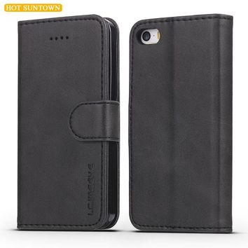 Luxury Leather Case For iPhone 5s Case SE iPhone 5 Cases Protective Flip Cover For iPhone 5 5s SE Mobile Phone Shell Stand Card