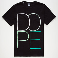 Dope Wire Logo Mens T-Shirt Black  In Sizes