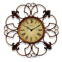 "Infinity Instruments Province- 24"" Metal Wall Clock"