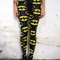 Batman Bat Logo Grunge Urban Halloween Leggings  from Evie Knight