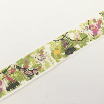 Green Forest animal - Washi tape - 10 meters WT796