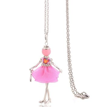 hot sale lady crystal red big necklace long chain women pendant classic necklace design new punk jewelry lovely choker gifts